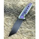 WE Knife 602B Voll Titan S35VN Stahl  Purple Black washed...