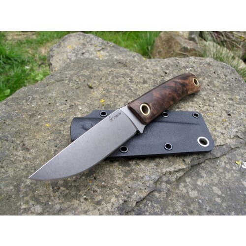 Manly Patriot Walnuss Gen ll optimierte Scheide Brotzeitmesser Jagdmesser D2 MYPD2WN
