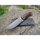 Manly Patriot Walnuss Gen ll D2 Stahl optimierte Scheide Brotzeitmesser Jagdmesser W02ML100