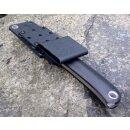 Ausgesuchte Maserung Manly Patriot Walnuss Gen ll optimierte Scheide Brotzeitmesser Jagdmesser W02ML100+