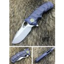 WE Knife 619 B Voll Titan Blau plain M390 Böhler...