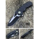 WE Knife 619 I Voll Titan Black plain M390 Böhler...