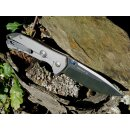 Sanrenmu Dimple 20 cm Beta Plus - Kugellager Frame Lock Flipper 12C27 Sandvik Stahl Satin  9089