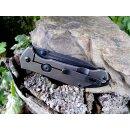 Sanrenmu Dimple 20 cm Beta Plus - Kugellager Frame Lock Flipper 12C27 Sandvik Stahl Black Washed  9089