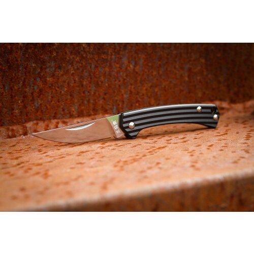 Sanrenmu Stripes Mini Taschenmesser 42a Schwarz 4Cr15N Gentleman Vollmetall