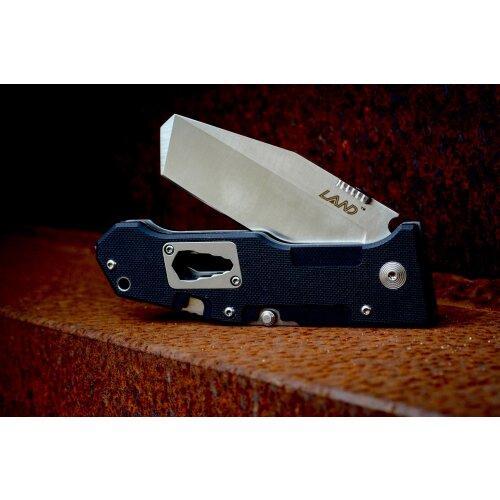 Sanrenmu LAND 9046 Tanto 12C27 Schweden-Stahl Rettungsmesser Beitel Multitool