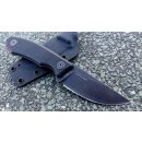 Real Steel Receptor Blackwashed Neckknife 9Cr18MoV Stahl...