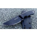 Real Steel Receptor Blackwashed Neckknife 9Cr18MoV Stahl G10 Kydexscheide 02RE061