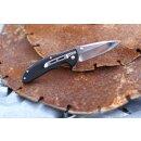 Sanrenmu Windrunner Design Slipjoint Taschenmesser Multifunktion 12C27 Schwarz Glasbrecher 7099SUX-PH-T3