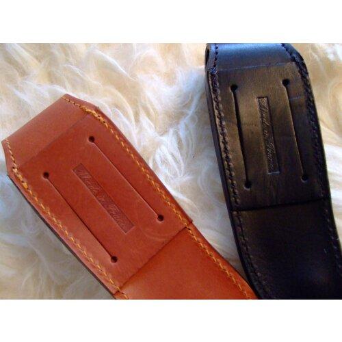 Laguiole en Aubrac Gürtel Etui Leder 12 cm schwarz