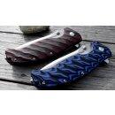 SRM knives Clawtrap1005 rotbraun schwarz 9Cr14MoV Stahl G10 Groove Wolframkarbid Hartmetall Glasbrecher Kugellager