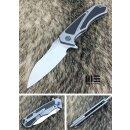 WE Knife Messer 801 D Minitor Böhler M390 Titan Grau...