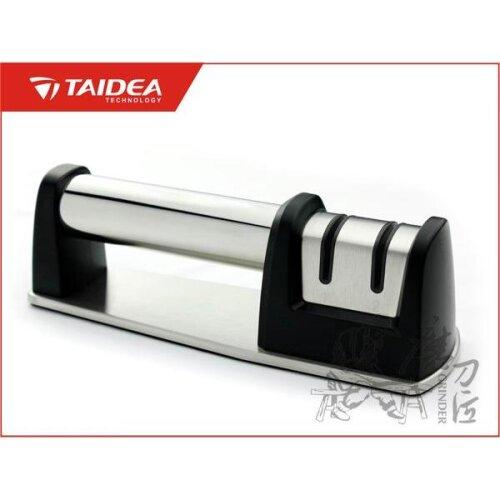 TAIDEA Deluxe Küchen-Messerschärfer Vollmetall Silber Messerschärfer