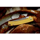 Messer Sanrenmu Stripes 42a Bronze farben 4Cr15N Stahl Gentleman Vollmetall 7112RUC-LR