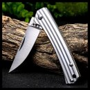 Messer Sanrenmu Stripes 42a Silber 4Cr15N Stahl Gentleman...