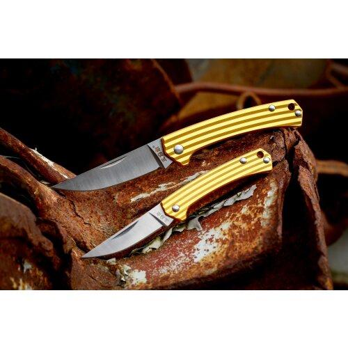 Sanrenmu Stripes Mini 42a Bronze 4Cr15N Stahl Gentleman Vollmetall