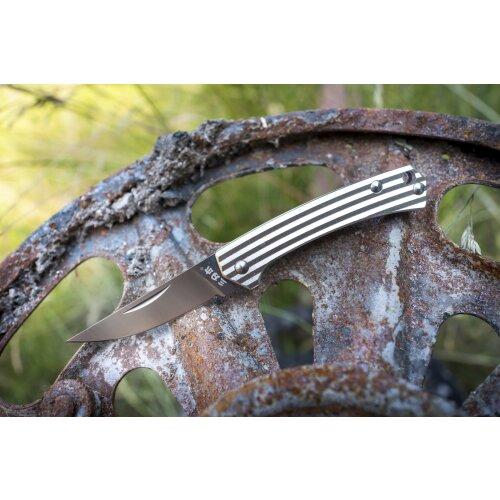 Sanrenmu Stripes Mini 42a Silber 4Cr15N Stahl Gentleman Vollmetall