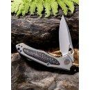 WE Knife Vapor Titan Grau Kohlefaser  CPM-S35VN  Stonewash Keramikkugellager 804 F