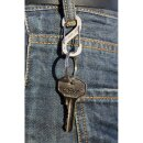 Karabiner Acht 8 S-Biner Schlüsselanhänger Schlüsselring