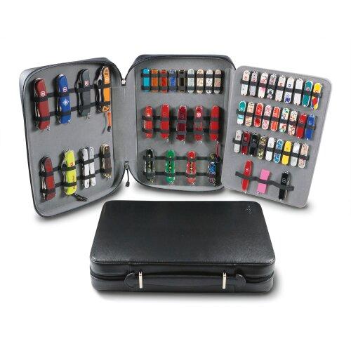 Sammelmappe Sammlermappe für Schweizer Taschenmesser Victorinox,  leer schwarz Präsentation