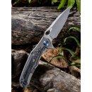 WE Knife Vapor Titan Braun Kohlefaser  CPM-S35VN  Stonewash Keramikkugellager 804 D