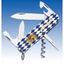 Victorinox Spartan Bayern Bavaria Blau Weiß Raute Offiziersmesser