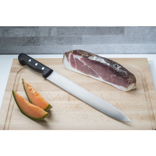 Schinkenmesser Sushi-Messer > 41 cm Kreuzblume Handarbeit Solingen Holz Buche 70er Jahre Sau scharfer Slicer