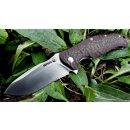 SRM knives Rattlesnake 1006 rotbraun schwarz 14C28N Schwedenstahl G10 Groove satiniert