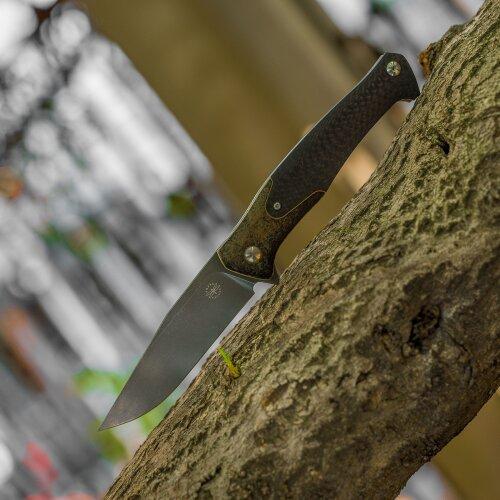 AMARE KNIVES Track CPM S35VN Stahl Bronze Carbonfaser Gentlemanmesser 201808