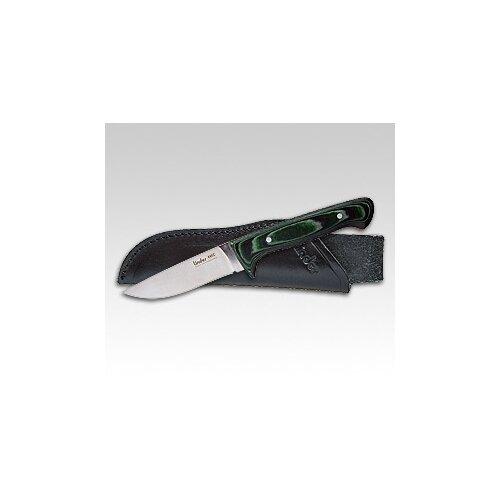 Linder 440C Micarta Hunter grün Jagdmesser  Outdoor Survival Ledersteckscheide 144610