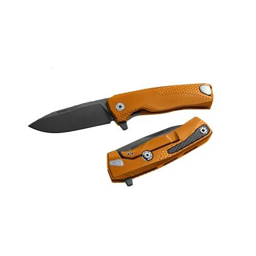 Lionsteel ROK Aluminium  Böhler M390 Orange Black handle Alu