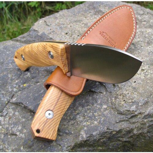 LionSteel M3 Olive Ausgesuchte Maserung  Niolox Stahl Gürtelmesser Outdoormesser Jagdmesser