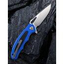 CIVIVI  Shard D2 Stahl Blau G10 Carbon-Overlay Satin Keramikkugellager