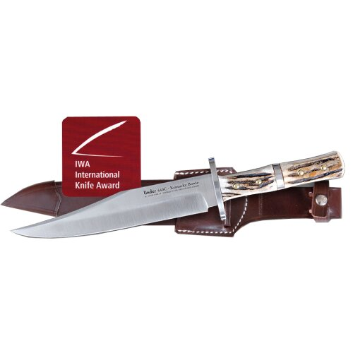 Linder Kentucky Bowie 440C Stahl Hirschhorn Lederscheide 2006 International Knife Award Sieger