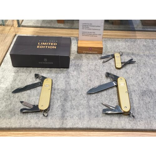 Victorinox Alox 2019 Champagner-Gold Limited Edition Schweiz komplettes Set Pioneer Cadet Classic