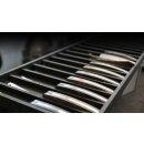 sknife Schweizer Steakmesser to go  Chirurgenstahl Walnussholz stabilisiert Taschenmesser