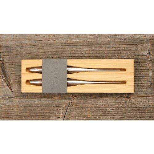 sknife Schweizer Steakmesser Chirurgenstahl Walnussholz stabilisiert 2er Set