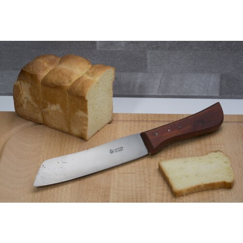Kochmesser Brotmesser Carbonstahl Handarbeit Solingen Holz  E. Spitzer 70er Hamburger Form Sau Scharf
