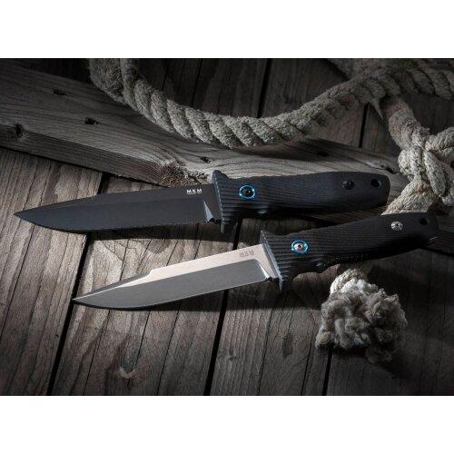 MKM Messer Jouf N690 Schwarz G10 schwarz Fahrtenmesser