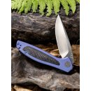 WE Knife Wisp Titan Blau Kohlefaser  CPM-S35VN Satin Keramikkugellager 805 B