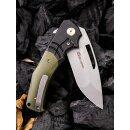 WE Knife JIXX Böhler M390 Schwarz/Grün Titan G10  stonewash WE904 Keramikkugellager