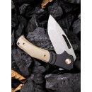 WE Knife JIXX Böhler M390 Schwarz/Braun Titan G10  stonewash WE904 Keramikkugellager