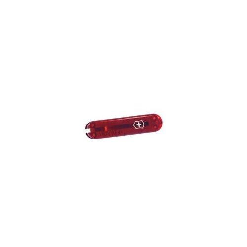 Victorinox Griffschalen 58 mm transparent rot vorn + Logo