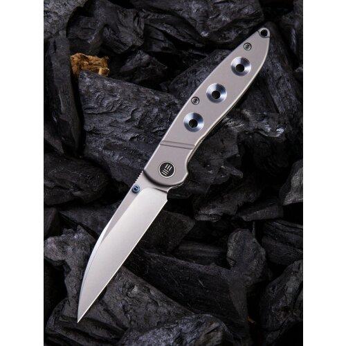 WE Knife Schism Blau Hole CPM S35VN stonewashed Keramikkugellager WE908