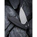 Anthropos CIVIVI C903 Damast Stahl G10 Schwarz Carbon / Kohlefaser Elijah Isham Damascus