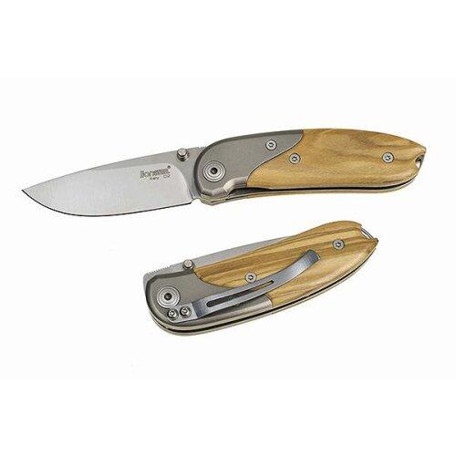 Ausgesuchte Maserung LionSteel Taschenmesser Mini mit Clip Olive Taschenmesser