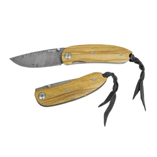 Lionsteel 8210 D  Mini Olive  Chad Nichols Damaststahl Taschenmesser