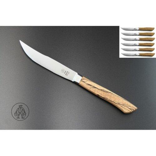 6er Set Paul Adrian Solingen Steakmesser Lewerfraus Liebling geschmiedet 1.4116 Stahl  Eisbuche