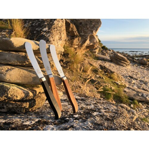 """6er Set Paul Adrian Solingen Steakmesser """"Burgermetz"""" geschmiedet 1.4116 Stahl Olive"""