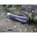 QSP Knife Worker Böhler N690 Stahl satin G10 schwarz Backlock Keramikkugellager